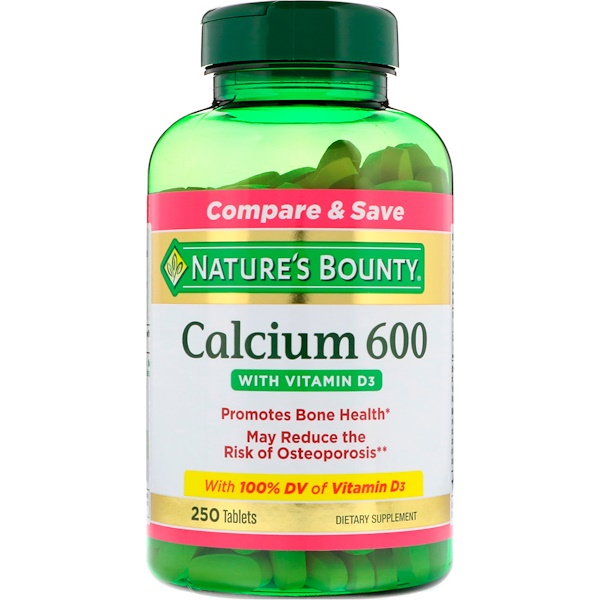 Nature's Bounty, Calcium 600 с витамином D3, 250 таблеток
