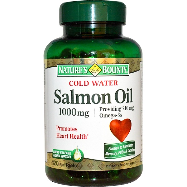 Nature's Bounty, Рыбий жир из лосося, 1000 мг, 120 гелевых капсул (Discontinued Item)