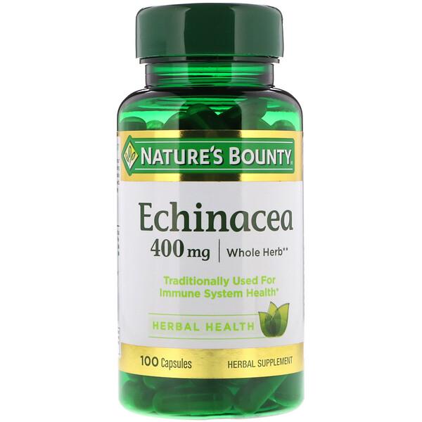 Nature's Bounty, Эхинацея, 400 мг, 100 капсул