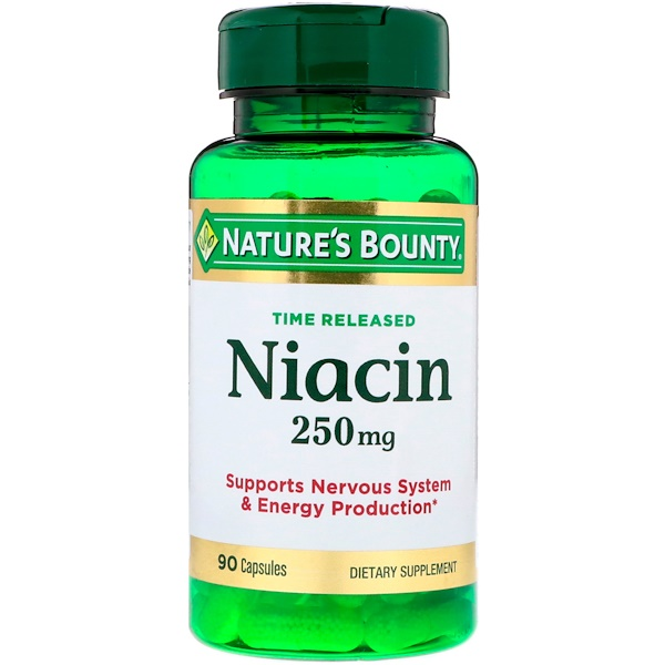 Nature's Bounty, Time Released Niacin, 250 mg, 90 Capsules (Discontinued Item)