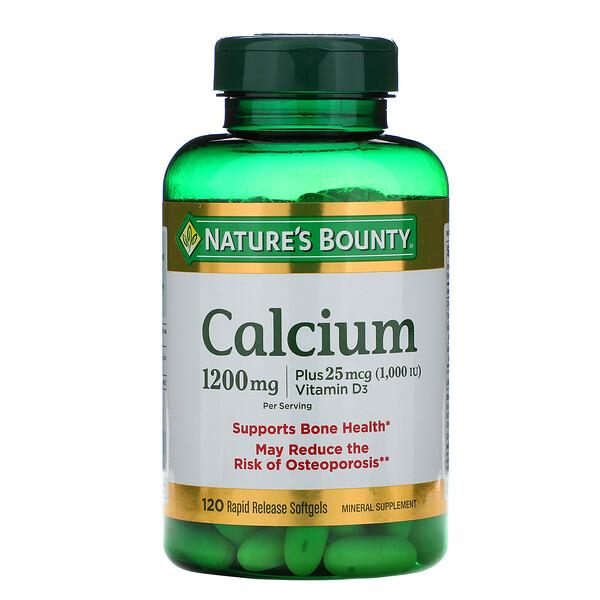 Calcium Plus Vitamin D3, 1,200 mg, 120 Rapid Release Softgels