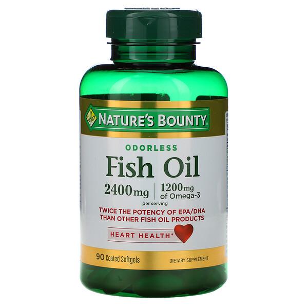 Рыбий жир, 2400 мг, 90 мягких таблеток с покрытием