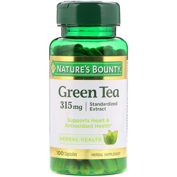 Nature's Bounty, Зеленый чай, 315 мг, 100 капсул (Discontinued Item)