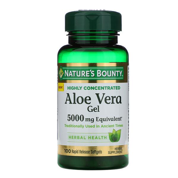 Aloe Vera Gel, 5,000 mg Equivalent, 100 Rapid Release Softgels