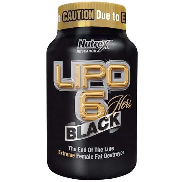 Nutrex Research, Lipo 6, черный, для женщин, 120 черных капсул (Discontinued Item)