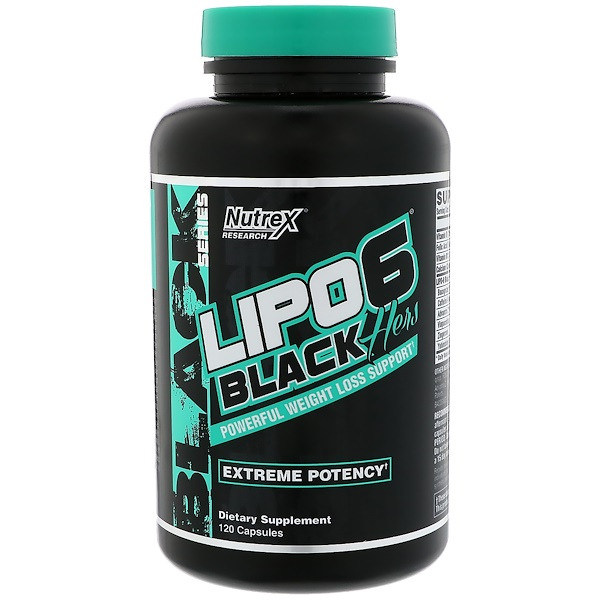 Lipo-6 Black, Hers, Extreme Potency, 120 капсул