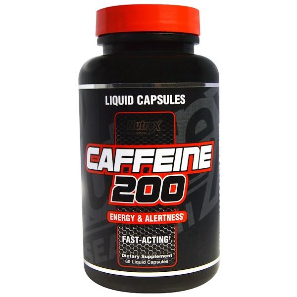 Кофеин 200, энергия и внимательность, 60 капсул с жидким наполнением