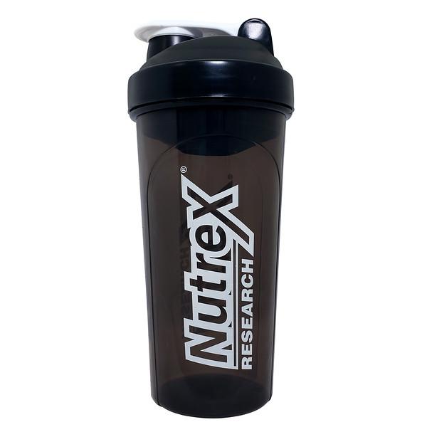 Nutrex Research, Шейкер для коктейлей, черно-белый, 30унций