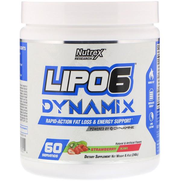 Lipo-6 Dynamix, Клубника и киви, 8,4 унц. (240 г)