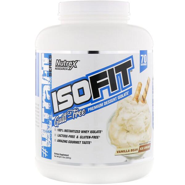 IsoFit, Vanilla Bean Ice Cream, 5 lbs (2261 g)