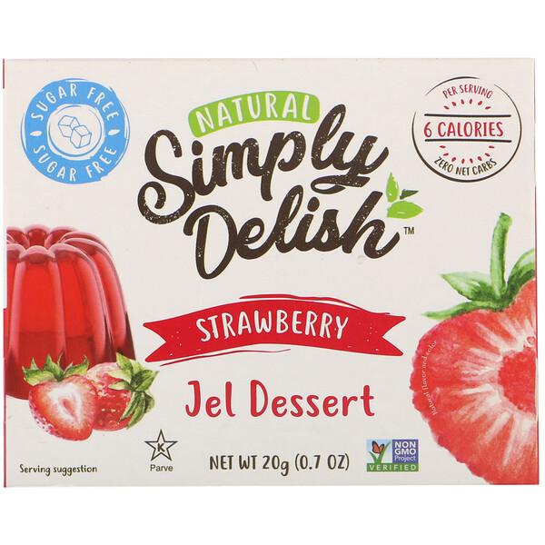 Natural Jel Dessert, Strawberry, 0.7 oz (20 g)