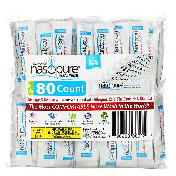 Средство для промывания носа, многоразовый перезаправляющийся набор, 80пакетиков