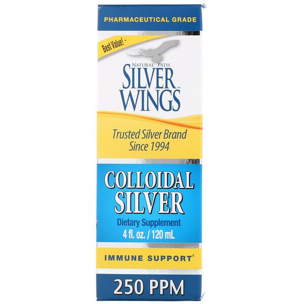 Коллоидное серебро, 250 частей на миллион, 4 жидких унции (120 мл)