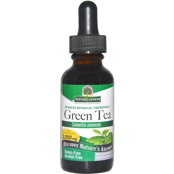 Зеленый чай, без спирта, 1 жидкая унция (30 мл)