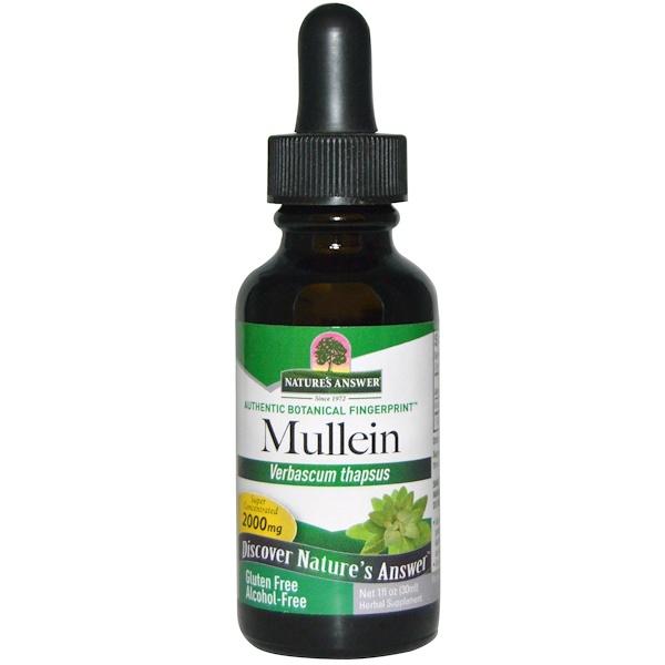 Nature's Answer, Безалкогольный экстракт коровяка, 2000 мг, 30 мл (1 жидкая унция)