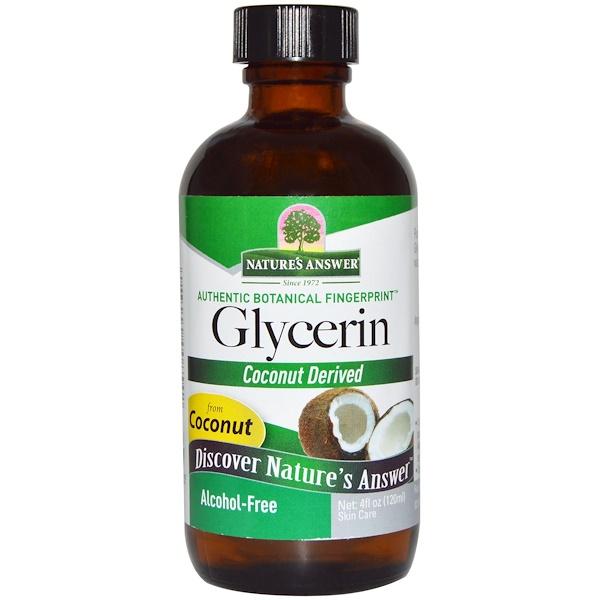 Nature's Answer, Глицерин, без спирта, 4 жидких унции (120 мл)
