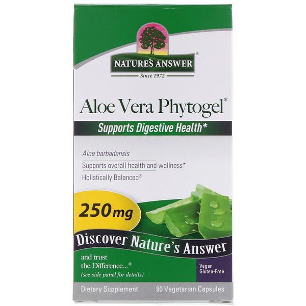 Фитогель алое-вера, 250 мг, 90 растительных капсул