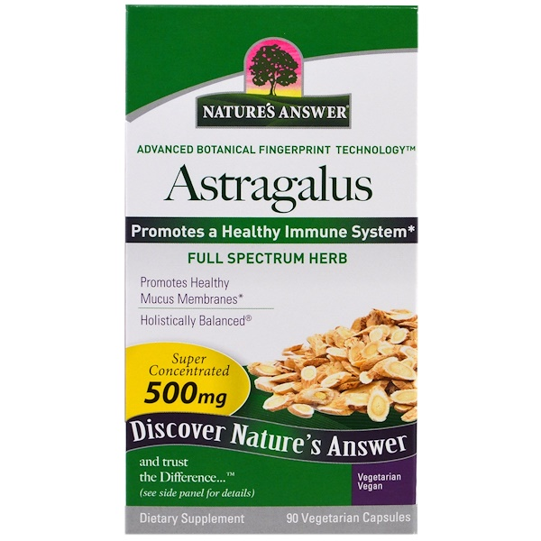 Nature's Answer, Astragalus, 500 mg, 90 Vegetarian Capsules