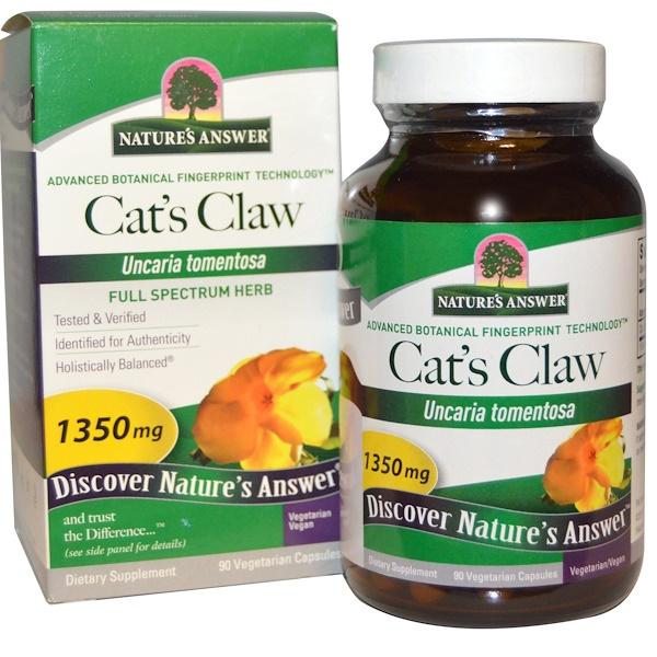 Кошачий коготь, 1350 мг, 90 вегетарианских капсул