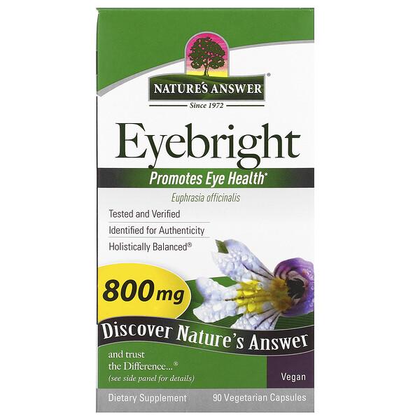 Nature's Answer, Очанка, 800 мг, 90 вегетарианских капсул
