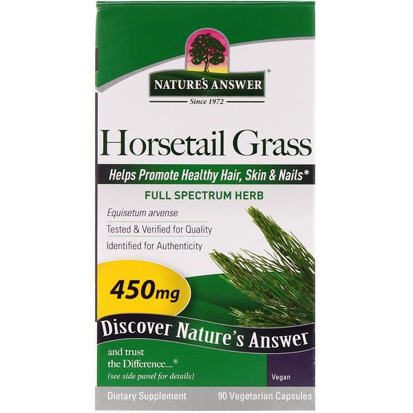 Трава конский хвост, 450 мг, 90 растительных капсул