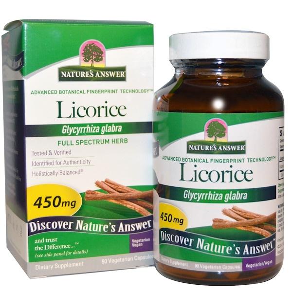 Licorice, 450 mg, 90 Vegetarian Capsules