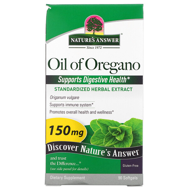 Nature's Answer, Oil of Oregano, 150 mg, 90 Softgels