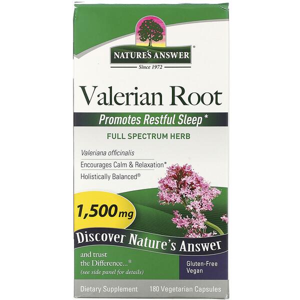 Valerian Root, 1,500 mcg, 180 Vegetarian Capsules