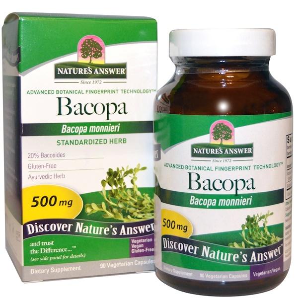Бакопа, 500 мг, 90 вегетарианских капсул