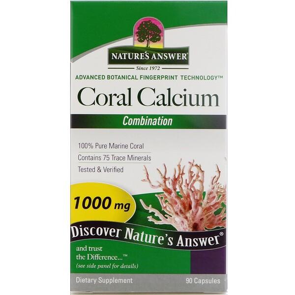 Кальций из кораллов, комплекс, 1000 мг, 90 капсул