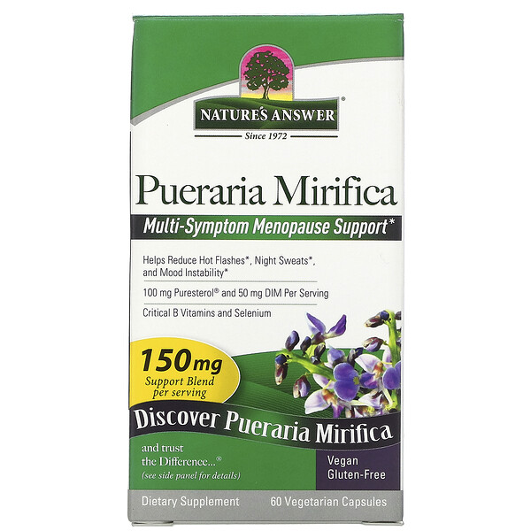 Nature's Answer, Pueraria Mirifica, 100 mg, 60 Vegetarian Capsules