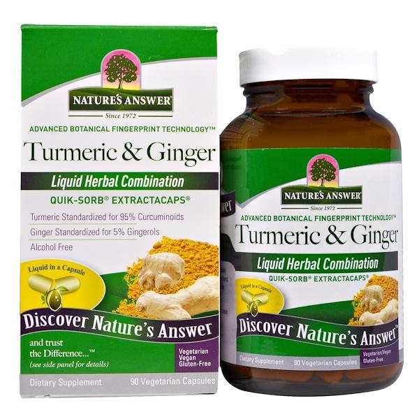 Turmeric & Ginger, 90 Vegetarian Capsules