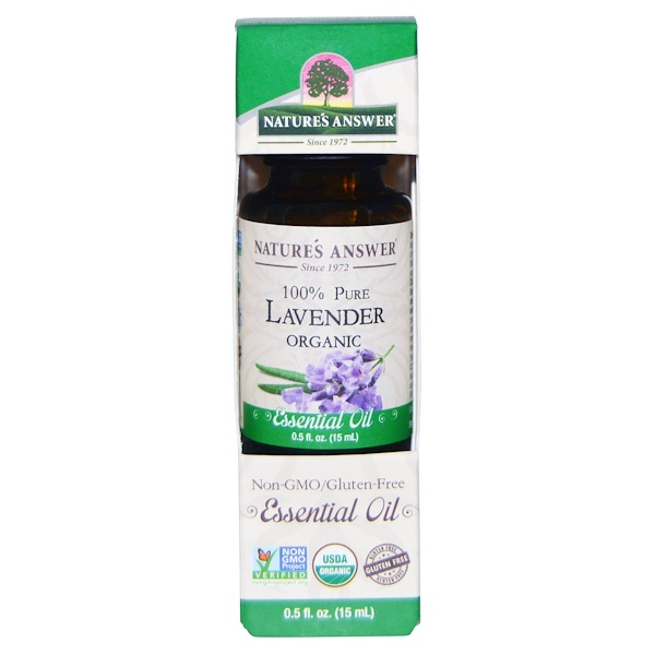 Органическое эфирное масло, 100% лаванда, 15 мл (0,5 унций)