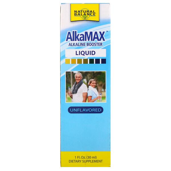 AlkaMax, жидкий алкалиновый бустер, без запаха, 1 ж. унц. (30 мл)