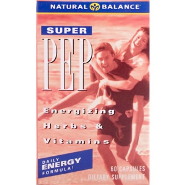 Natural Balance, Весь день, Super Pep, 60 капсул (Discontinued Item)