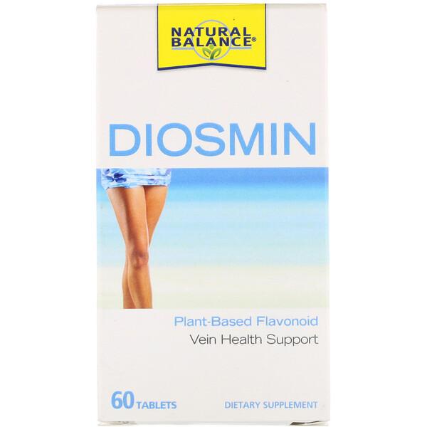 Natural Balance, Диосмин, поддержка здоровья вен, 60 таблеток