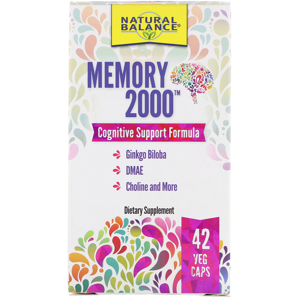 Natural Balance, Memory 2000, 42 Veg Caps (Discontinued Item)