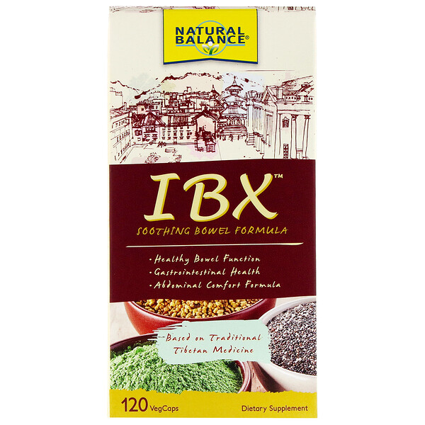 Natural Balance, IBX Soothing Bowel Formula, 120 вегетарианских капсул (Discontinued Item)