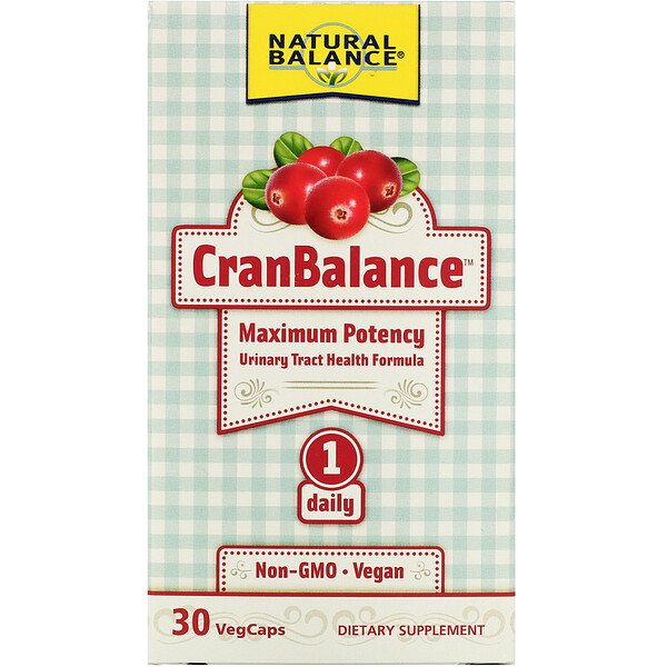 Natural Balance, CranBalance, Urinary Tract Health Formula, 30 VegCaps