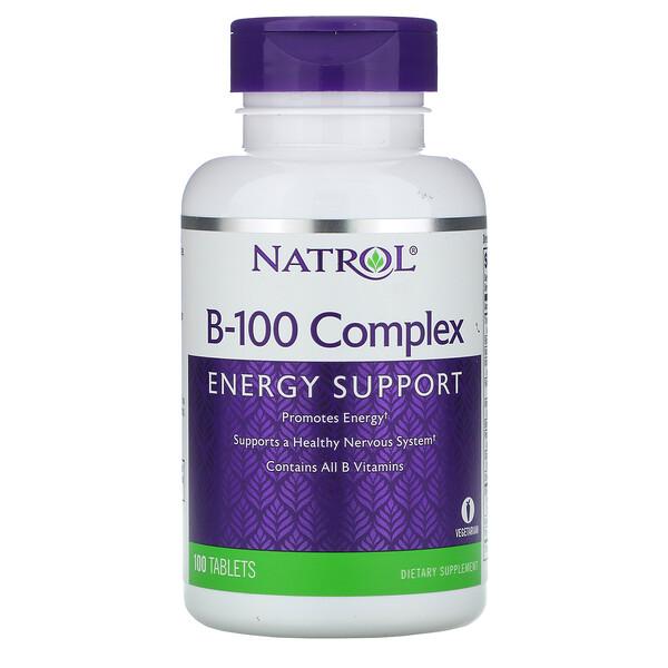 Natrol, B-100 Complex, 100 таблеток (Discontinued Item)