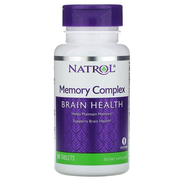 Natrol, Комплекс для поддержки памяти, 60 таблеток