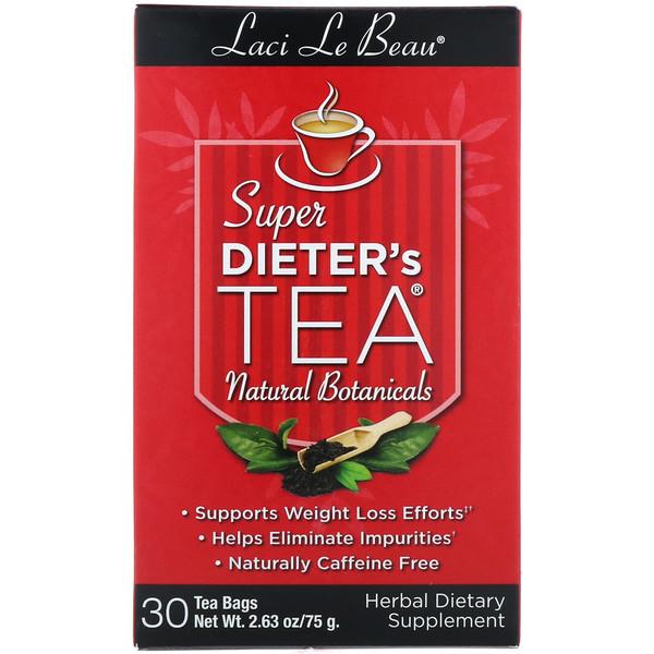 Natrol, Laci Le Beau, Диетический чай, Натуральные растительные компоненты, 30 чайных пакетиков, 2,63 унции (75 г) (Discontinued Item)