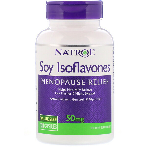 Natrol, Соевые изофлавоны, 50мг, 120капсул