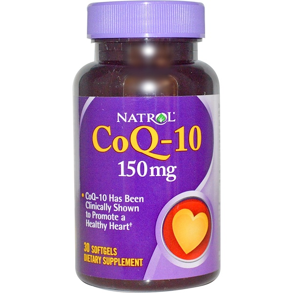 Natrol, CoQ-10, 150 мг, 30 капсул (Discontinued Item)