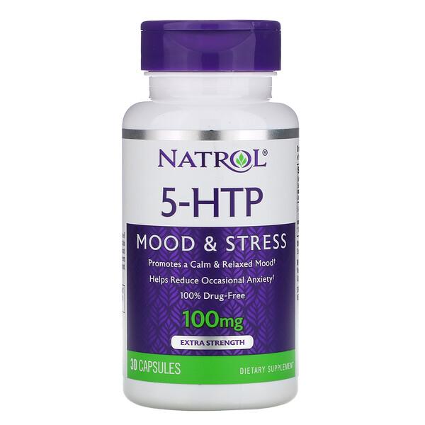 5-HTP, Extra Strength, 100 mg, 30 Capsules