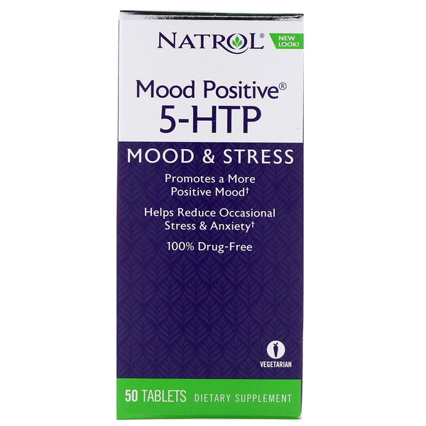 Natrol, Mood Positive 5-HTP, 50 таблеток