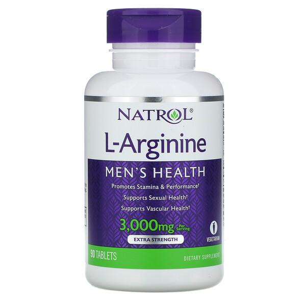 Natrol, L-аргинин, 3000мг, 90таблеток
