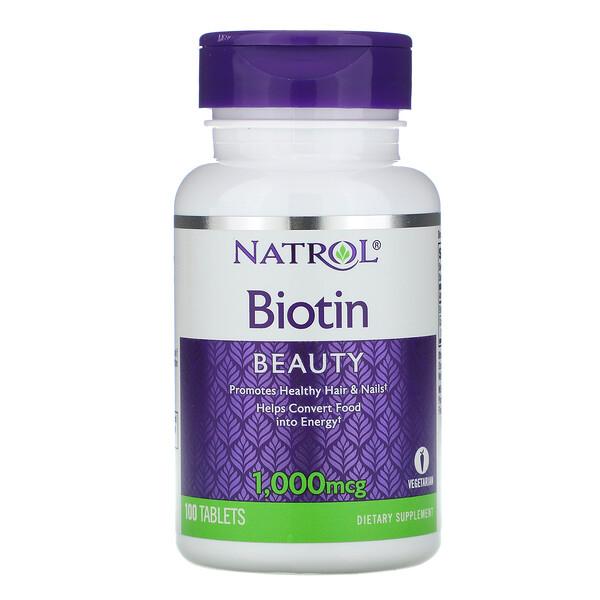Биотин, 1000 мкг, 100 таблеток