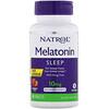 Natrol, Мелатонин, быстрорастворимый, максимальный эффект, клубника, 10мг, 60таблеток