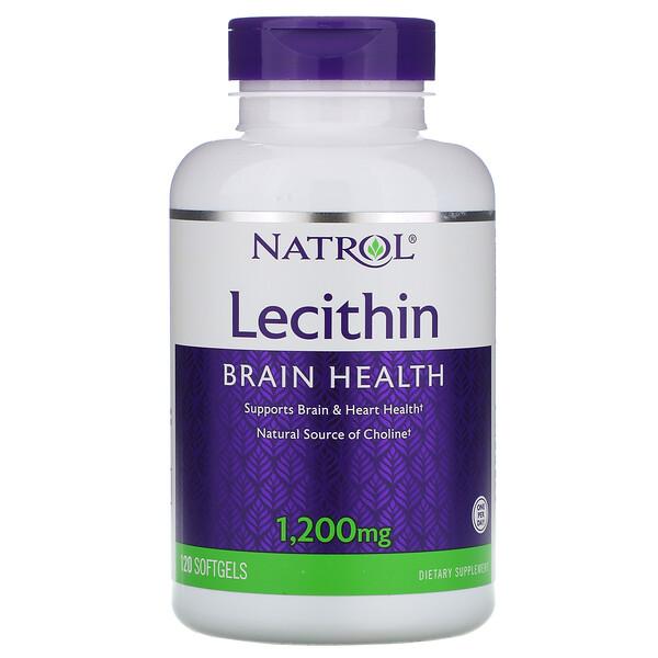 Natrol, Лецитин, 1 200 мг, 120 мягких таблеток (Discontinued Item)